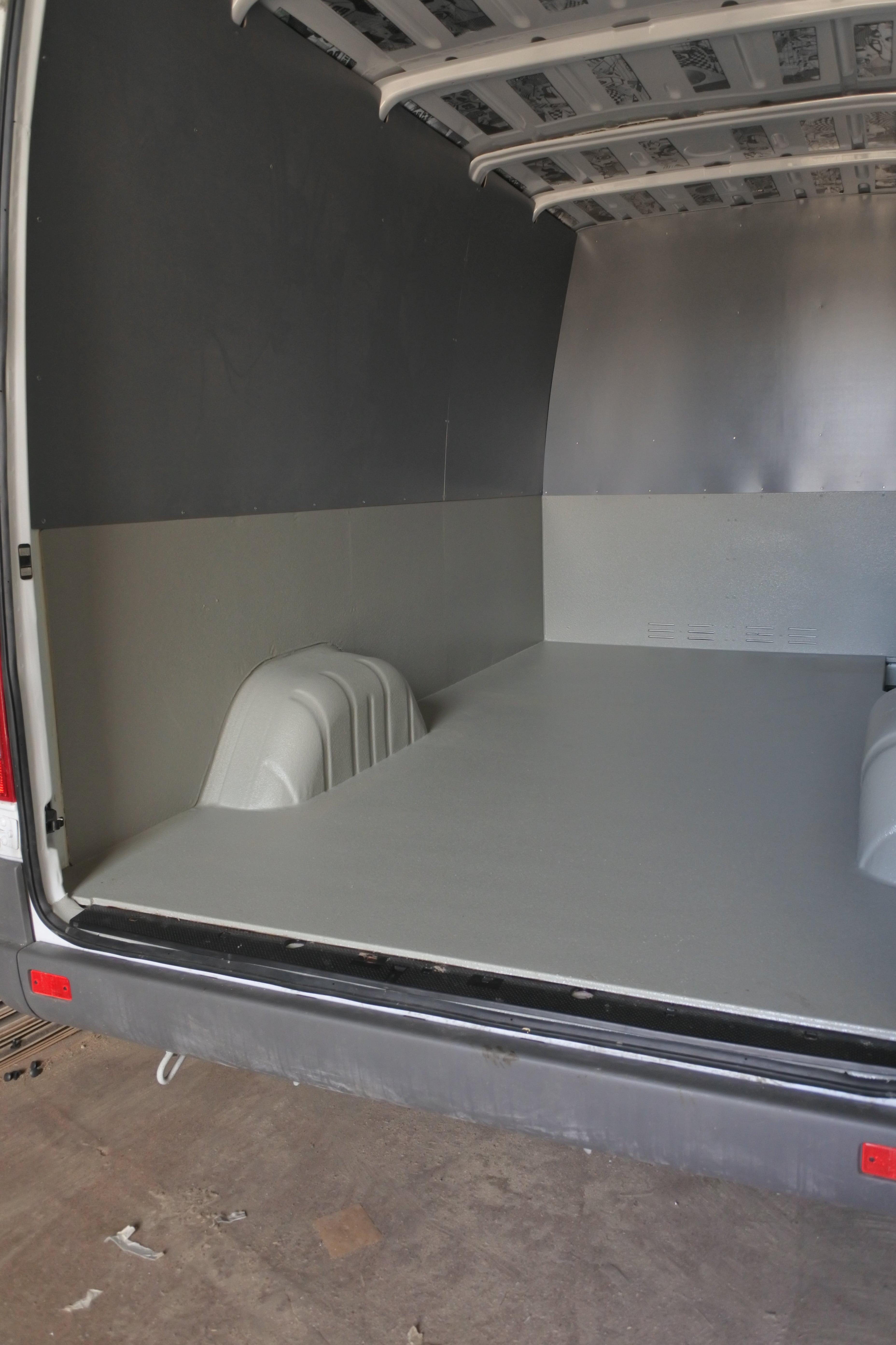 обработка полимочевиной фургона